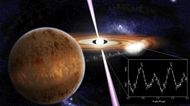 La prima pulsar che emette impulsi periodici di luce visibile