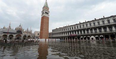 Venezia e la laguna veneta e un aumento tra i 56 e 108cm del livello del mare